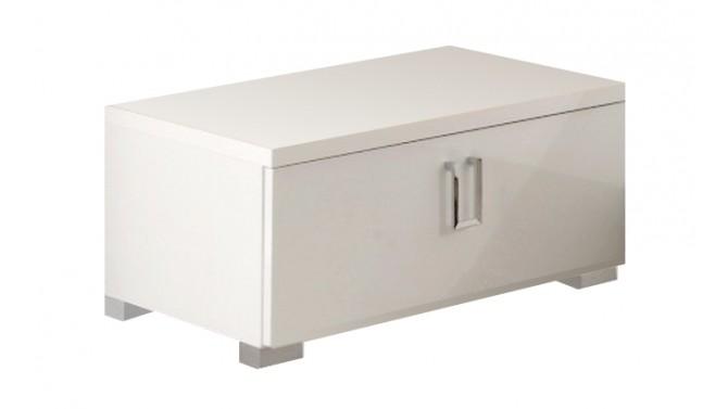 Chevet laqué blanc 1 tiroir - Gemma