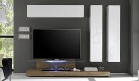 Ensemble meuble TV design avec LEDs - Upton