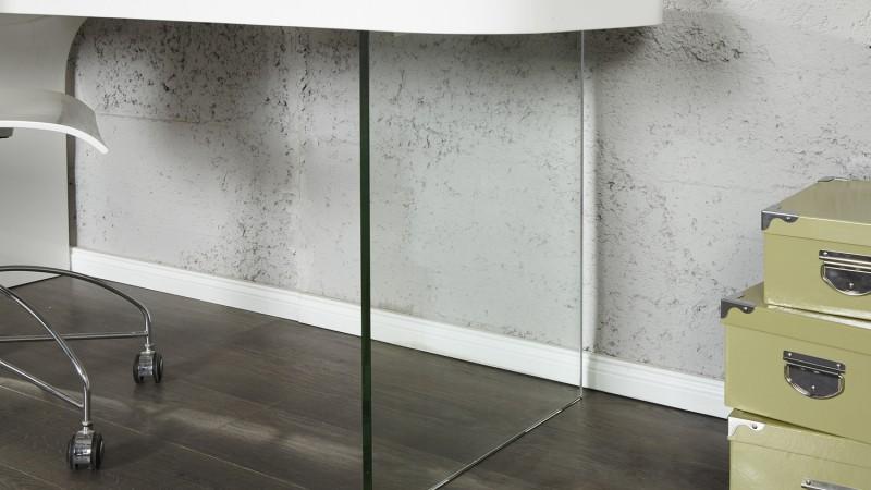 Petit bureau studio laquÉ blanc brillant pieds chromÉs comparer
