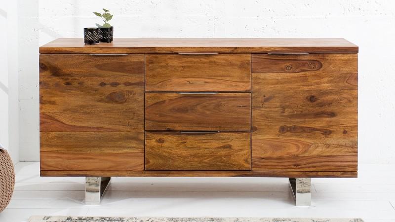 buffet de rangement bois massif de palissandre ursel gdegdesign. Black Bedroom Furniture Sets. Home Design Ideas