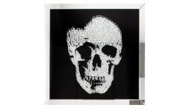 Tableau miroir design tête de mort - Howell