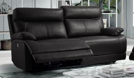 Canapé de relaxation design en cuir - Léon