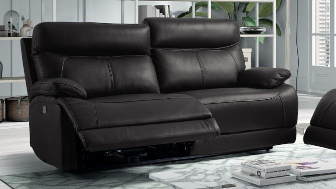Canapé de relaxation 3 places en cuir - Léon