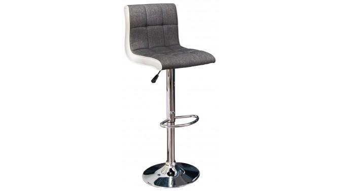 Chaise Haute De Bar Moderne Bimatiere Gris Et Blanc Tiger Gdegdesign