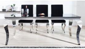 Table à manger baroque noire 200 cm - Zita