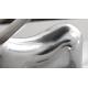 Petite statue moderne chromée - Jay
