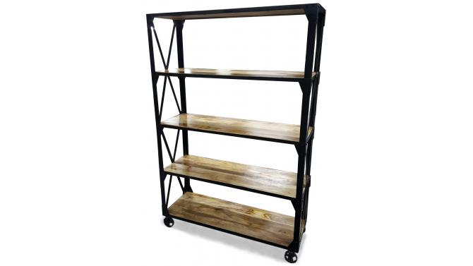Étagère industrielle bois et métal - Tormod