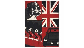 Tapis moderne rectangulaire au look Anglais - Gordon