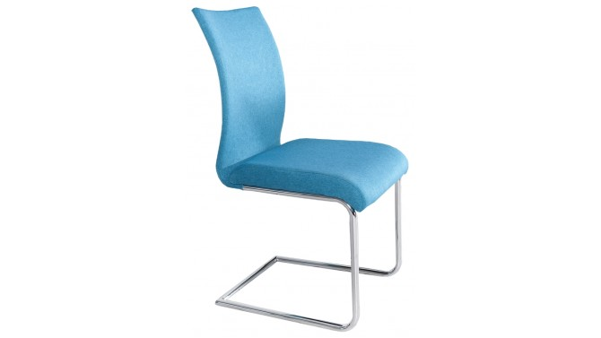 Chaise design tissu dossier incurvé - Bursa