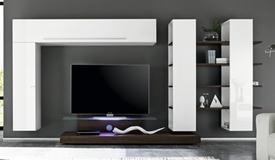Composition murale TV avec rangements - Farrell
