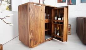 Mini bar design en bois d'acacia - Bertol