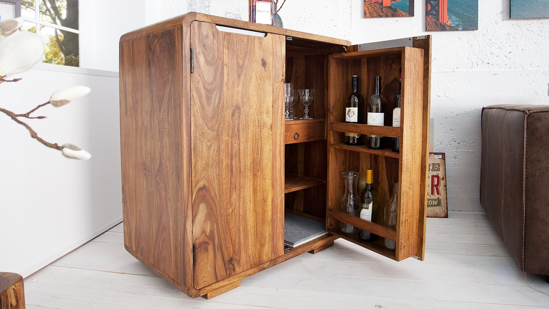 Meuble Mini Bar D Angle mini bar 2 portes en bois de palissandre massif bertol