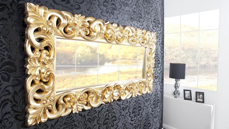 Miroir Baroque 180 Cm Rectangulaire Avec Ornement Chester
