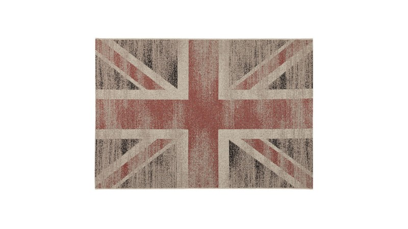 Tapis design rectangulaire délavé Union Jack Cooper - GdeGdesign
