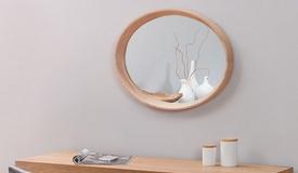 Miroir design ovale en bois - Memphis