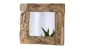 Miroir design carré bois flotté - Pietro