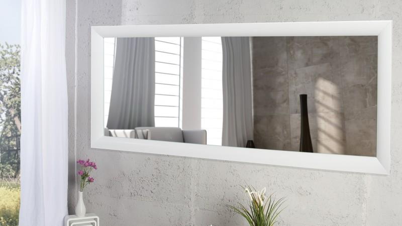 grand miroir rectangulaire moderne cadre blanc clyde gdegdesign. Black Bedroom Furniture Sets. Home Design Ideas