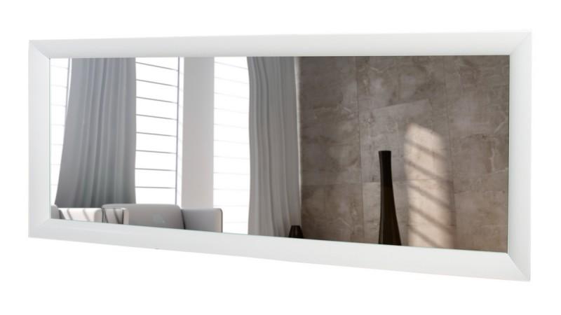 Grand miroir rectangulaire moderne cadre blanc Clyde - GdeGdesign