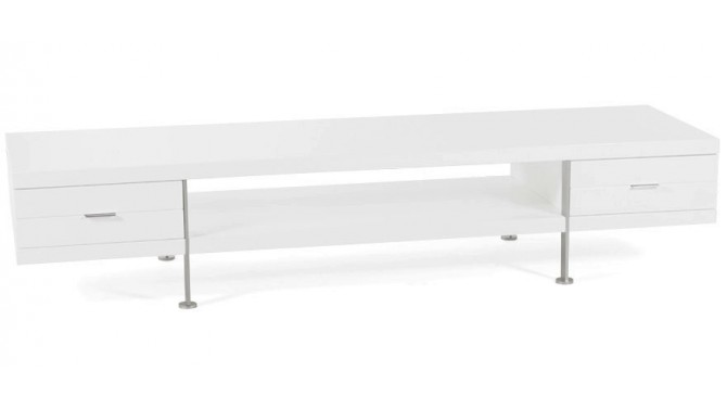 Meuble TV design blanc 200 cm - Dario