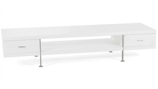 Meuble t l vision banc tv design blanc 200 cm dario gdegdesign - Meuble tv 200 cm ...