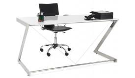 Bureau droit design en bois blanc - Konner