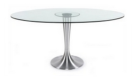 Table à manger ovale en verre - Amara