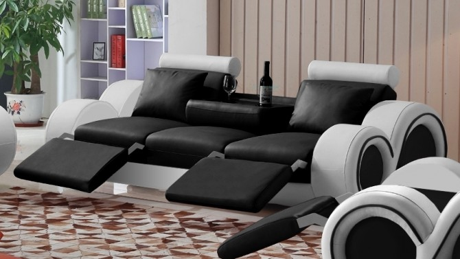 Canapé design 3 places relax en cuir - Carlson
