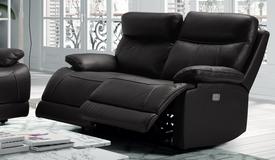 Canapé relax moderne 2 places en cuir - Léon