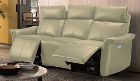 Canapé cuir relax 3 places électrique - Vadim