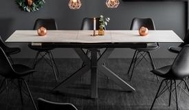 Table extensible verre et céramique - Dirce