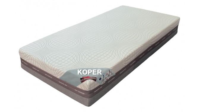 Matelas mémoire de forme et latex 200x200 - Koper