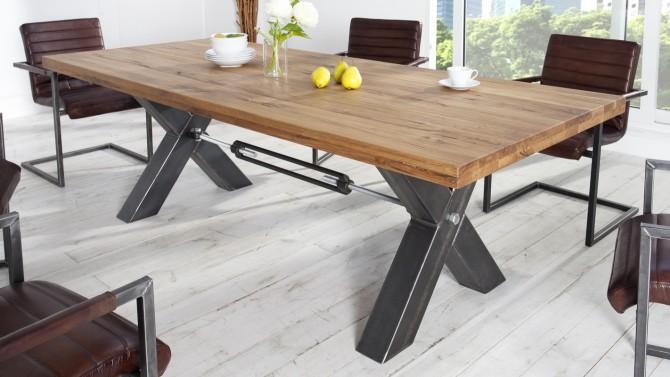 Table à dîner industrielle rectangulaire - Jack
