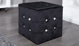 Pouf velours strass design - Palma