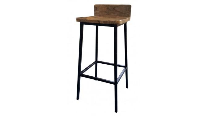 Chaise de bar industrielle bois et métal - Ali