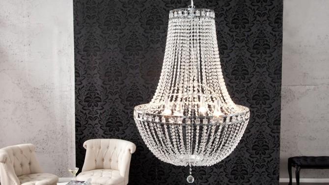 Lustre baroque design à pampilles - Firoz