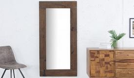 Miroir design rectangulaire en bois - Cléo