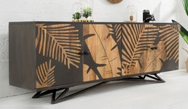 Buffet bois design tropical 4 portes - Paco