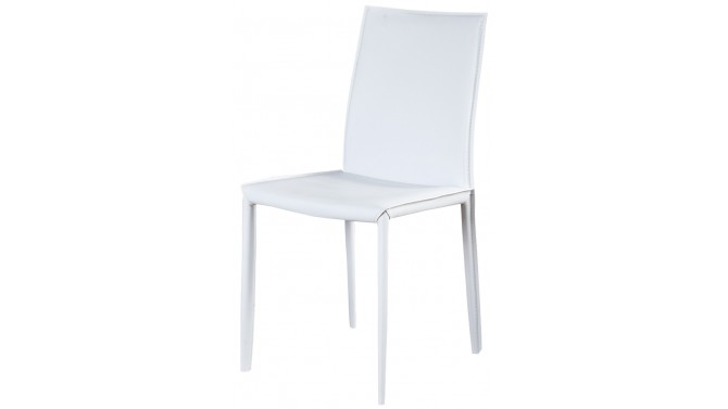 Chaise contemporaine blanche en similicuir - Fuko