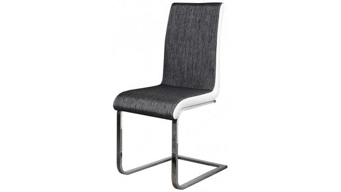 Chaise moderne tissu et simili cuir - Dacca