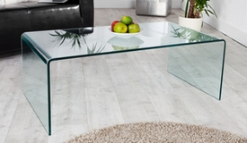 Table basse moderne en verre - Julia