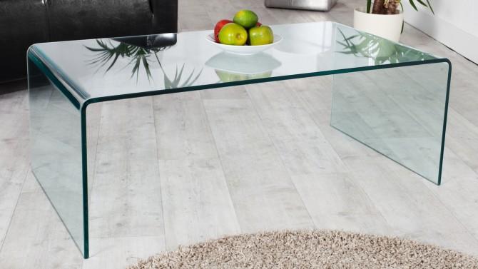 Table basse moderne en verre - Julia