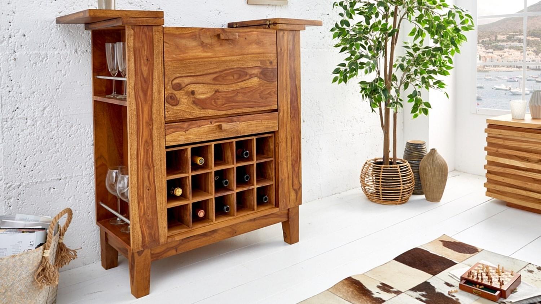 Meuble Mini Bar D Angle mini bar design en bois de palissandre massif shankar