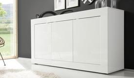 Buffet design laqué blanc 3 portes - Lernig Small