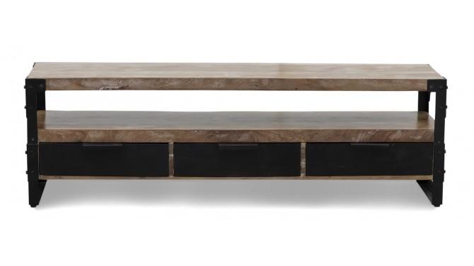 Meuble TV industriel en bois - Marlon
