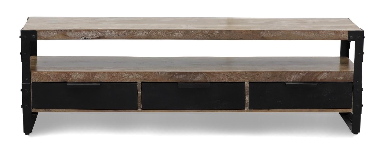 Poignée De Meuble Industrielle banc tv design industriel en bois massif d'acacia marlon