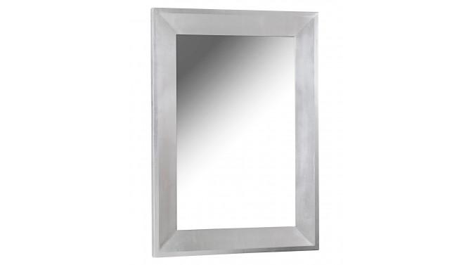 Miroir rectangulaire argenté design - Livio