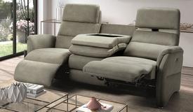 Canapé 3 places électrique USB relax - Adem