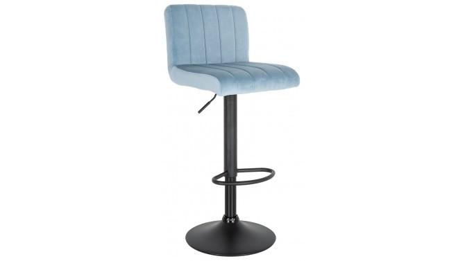 Chaise haute design velours bleu clair - Noto