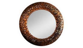 Miroir rond mosaïque design - Braga
