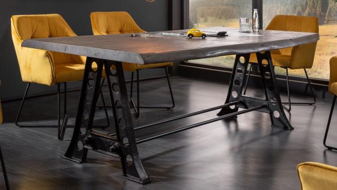 Table à manger industrielle bois - Adam